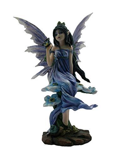 Frühlings Elfen Figur mit Schmetterling - Feen Fantasy Elfenfigur Deko Flügel