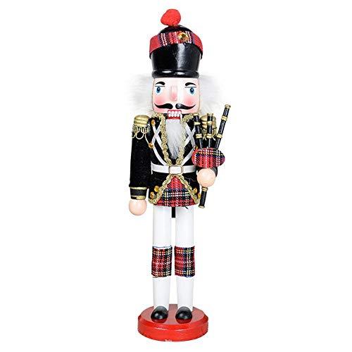 lingzhuo-shop Nussknacker Soldat Figuren Puppen Holz Puppe Figur Festliche Weihnachts Deko 30CM...
