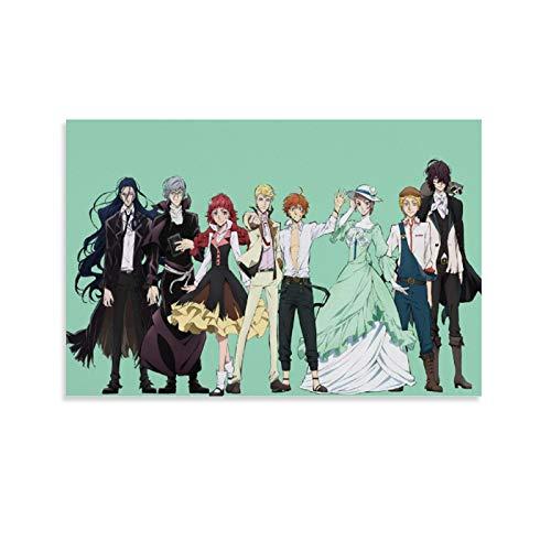 Bungo Stray Dogs 35 Japanisches Anime-Poster auf Leinwand, 60 x 90 cm