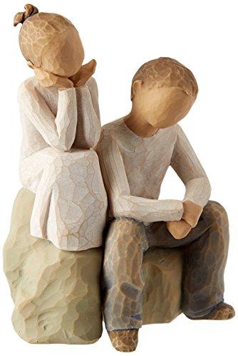 Willow Tree 26187 Figur Bruder und Schwester, 7,6 x 3,8 x 14 cm