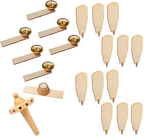 Brubaker Ersatzteile Komplett-Set für Weihnachtspyramiden 45 cm / 60 cm Holz naturfarben mit 12...