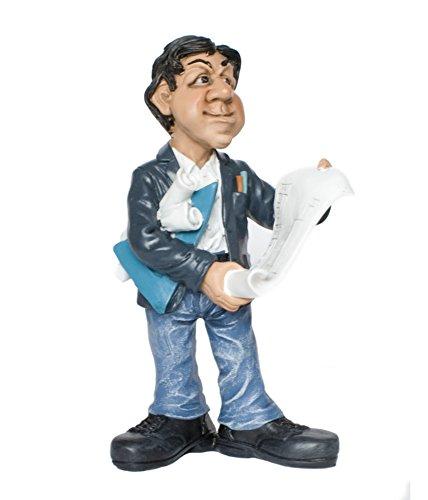 Funny Jobs Berufsfigur Comicfigur Figur Architekt Bauherr witzig der Reihe