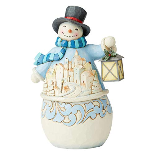 Heartwood Creek by Jim Shore Snowman with Village Scene Figurine