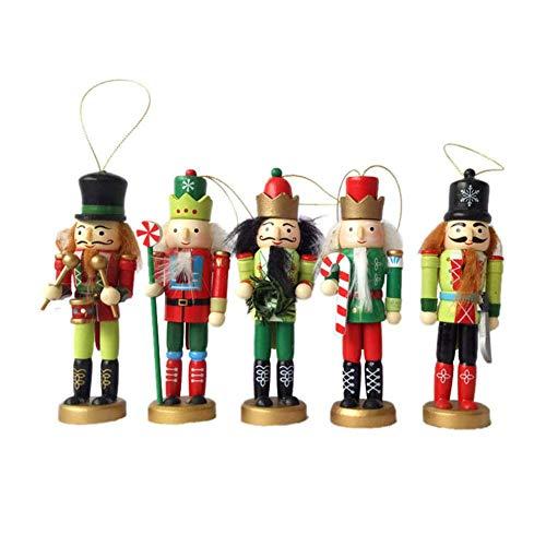 Holzsoldat Nussknacker Puppe - Weihnachtsschmuck Nussknacker Ornamente König Soldat 12 CM / 5...
