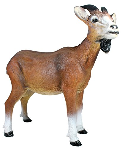 colourliving Ziegenbock Figur Geißbock Figur Ziege Bruce Gartenfigur Tierfigur Gartendekoration