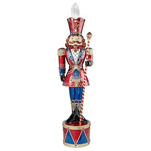 Die Nussknacker-Figuren - Beleuchtet bayrische Riesen LED Weihnachten Nussknacker-Soldat Statue -...