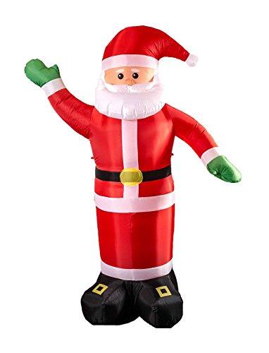 Weihnachtsmann mit Gebläse und beleuchtung, Indoor, Outdoor, Höhe ca. 240 cm