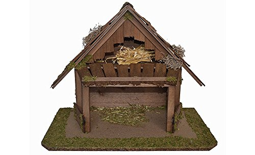 Krippe KORINTHER Holzkrippe Weihnachtskrippe Weihnachten Krippenstall