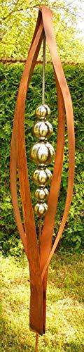 Gartendeko Rost Skulptur 2 Meter Tulpia