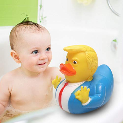 Smosyo Badespielzeug PVC Donald Trump Gummiente Cartoon Schwimmbad Squeeze genannt Baby Bath Duckies...