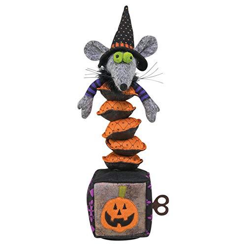 Hanna's Handiworks Halloween-Figur Tanzende Maus Hexe Jack in The-Box 38,1 cm