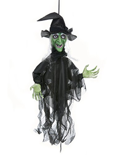 Widmann 01391 - Zitternde und sprechende Hexe, mit leuchtenden Augen und beweglichen Armen,...