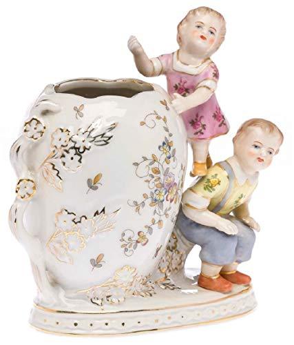 aubaho Nostalgie Porzellan Vase Dose Schale Kinder Figur Skulptur antik Stil Porcelain