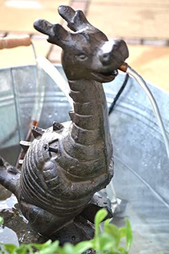 Wasserspeier Drache - jetzt mit stärkerer Pumpe 7 Watt-lustiger Stabiler Wasserspeier mit Pumpe...