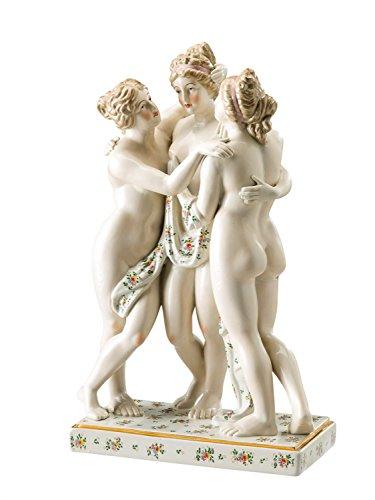 aubaho Skulptur erotische Kunst nach Canova Grazien Porzellan Figur 52cm Porcelain