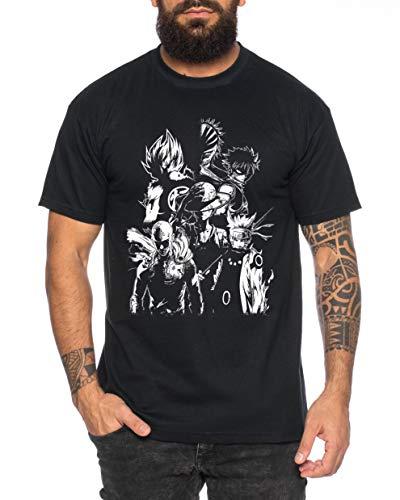 Tee Kiki Heroes One Manga Helden Herren T-Shirt Anime Piece