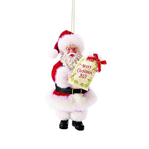Department 56 Possible Dreams Weihnachtsmann Merry Christmas 2021 Hänge-Ornament, 15,2 cm,...