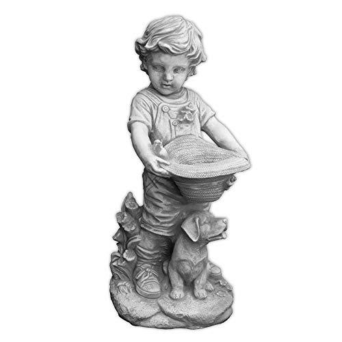 gartendekoparadies.de Wunderschöne Massive Jungenfigur mit bepflanzbaren Hut Kinderfigur aus...