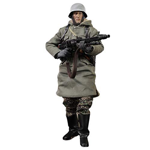 POXL Militär Soldat Modell, 1/6 12 Zoll Mini German Soldat Action Figuren Beweglich Spezialarmee...