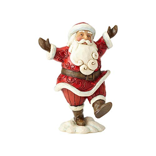 Heartwood Creek Joyful Walking Santa Figurine