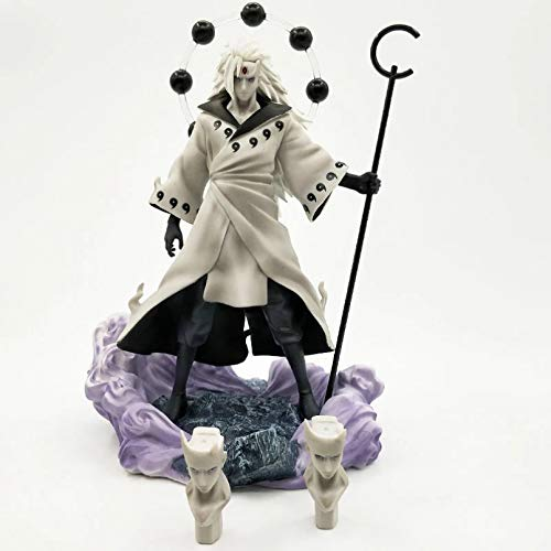 JINGRU Anime Figur Anime Naruto Uchiha Madara Rikudō Sennin Ootutuki Hagoromo PVC Actionfigur...