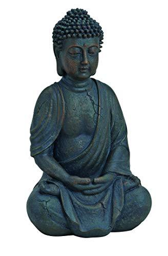 WOMA - Deko Buddha Figur Sitzend aus Wetterfestem Polyresin - 25cm hoch - Buddha Statue als...