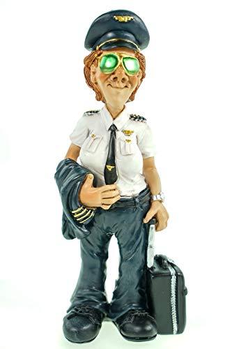 Funny Job - Pilotin mit Koffer und Sonnenbrille