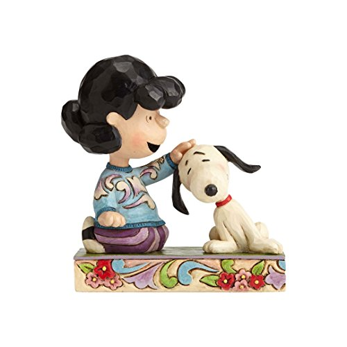 Jim Shore Heartwood Creek 4055660 Peanuts by Jim Shore Lucy Petting Snoopy Figurine, Resin,...