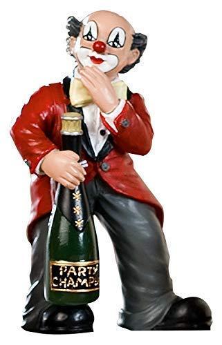 Gildeclown Champagnerflasche/Fuß - Dekofigur und Sammlerstück handgefertigt