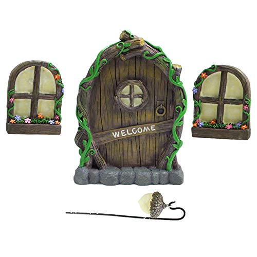 MagiDeal Garten Deko, Gartendekoration, Garten Figuren, Baumdeko, Miniatur GNOME Decor für Outdoor,...