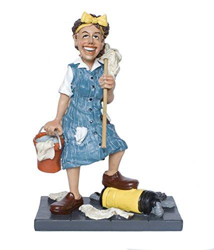 Berufsfigur Comicfigur Figur Hausfrau Putzfrau witzig der Reihe Funny Jobs