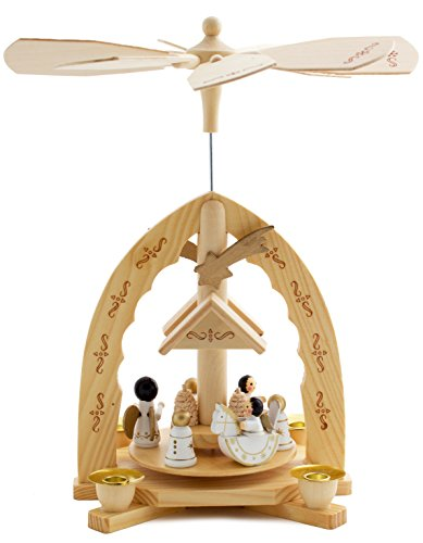 Brubaker Weihnachtspyramide aus Holz - Engel - 30 cm Hoch