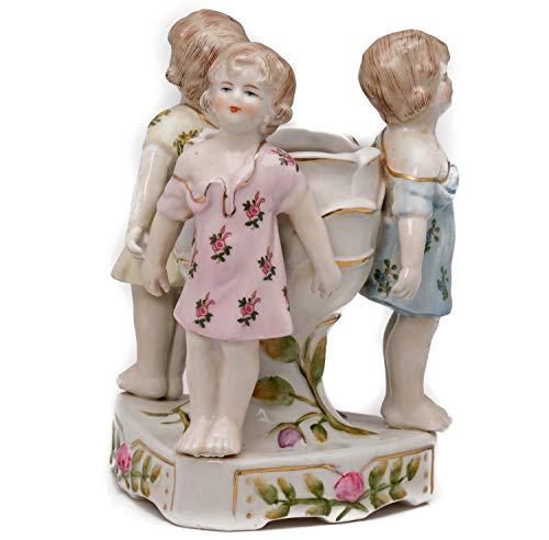 aubaho Porzellan Schale Vase Anbietschale Kinder antik Stil Kerzen Leuchter