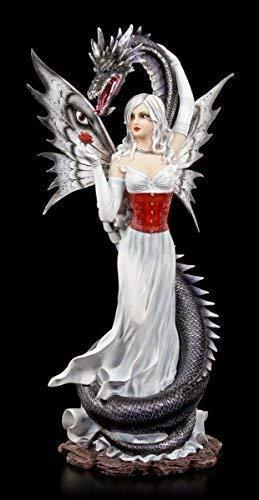 Elfen Figur Alida mit Seeschlange - Drache Wasserdrache