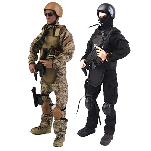ZSMD 1/6 Scale Military Soldiers Special Forces, 12' Army Man Action Figure Playset with 30...