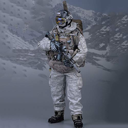MXUS 1/6 Navy Seals Schnee Präzisions-Shooter Actionfiguren Umweltschutz PVC Spielzeug Statue...