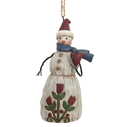 Heartwood Creek Folklore Snowman With Heart (Hanging Ornament)