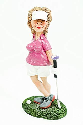 Funny Sports - Kann's los gehen? Golferin in Modellpose