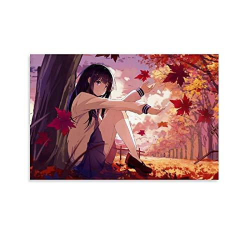 SDFWE 1 x Hyouka Manga Anime Characters Prints on Canvas Poster Dorm Dormitory Wall Decor 60 x 90 cm