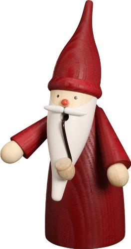 Rudolphs Schatzkiste Weihnachtsdekoration Räuchermann Wichtel rot HxBxT = 16x8x9cm NEU Rauchmann...