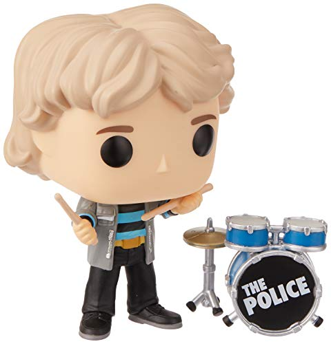 Funko 40089 POP Vinyl: Musik: The Police-Stewart Copeland Sammelbares Spielzeug, Mehrfarben