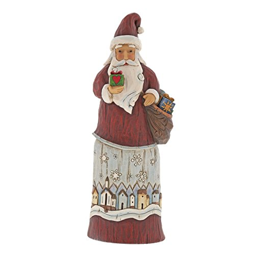 Heartwood Creek Folklore Santa With Gift Figurine