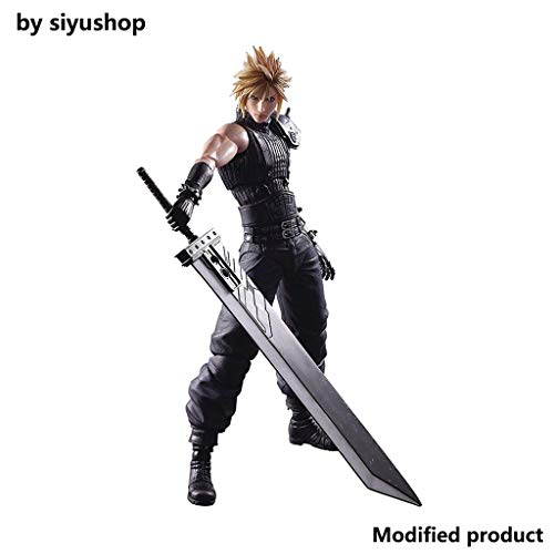 Siyushop Final Fantasy Cloud Strife Play Arts Actionfigur Kai - Claude Actionfigur - Ausgestattet...