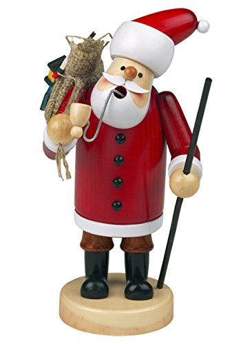 Räuchermännchen Räuchermann Räucherfigur Rauchfigur 'Weihnachtsmann' ca. 18 cm hoch, aus Holz,...