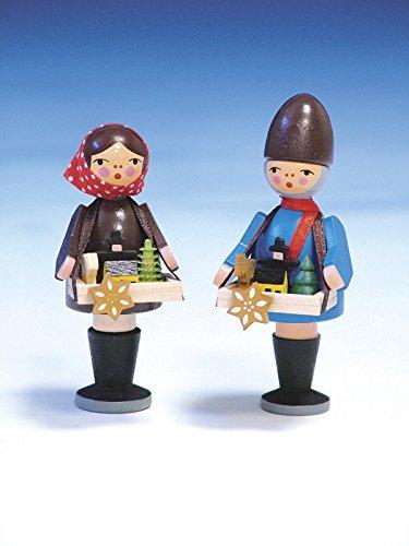 Weihnachtsfiguren Striezelkinder, bunt – traditionelle Weihnachtsfiguren – Holzfiguren – Höhe...
