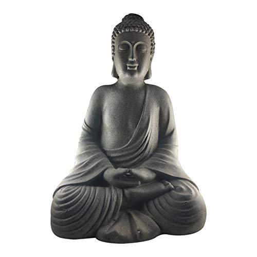 7even Buddha-Figur Groß 50cm groß/robust und wetterfest in original Steinoptik Statue Garten-Deko...