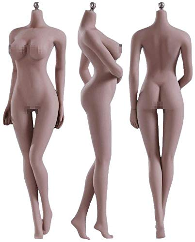 NEDTO 12' Female Seamless Action Figures-Realistic Full Silicone Body Suntan Skin & Stainless Steel...