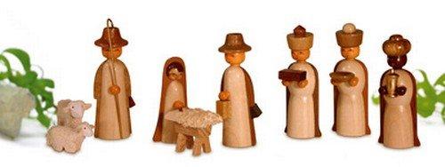 Rudolphs Schatzkiste Miniaturen Figuren, Natur 4,5cm NEU Miniatur Weihnachtsfigur Erzgebirge