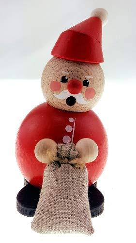 Rudolphs Schatzkiste Weihnachtsfigur Weihnachtsmann mit Sack BxHxT 9x9x12cm NEU Miniatur Holzfigur...