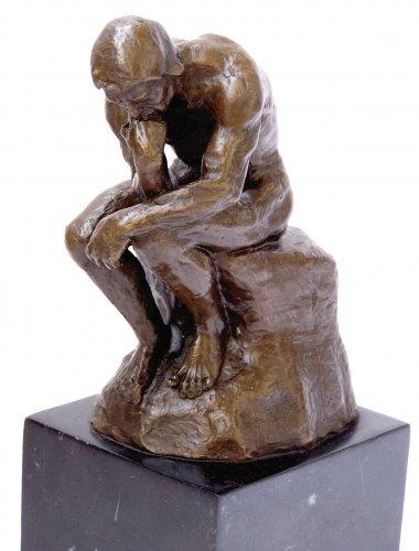 Kunst & Ambiente - Der Denker - Auguste Rodin Skulptur in Bronze - Bronzefigur - Statue -...